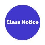 Class Notice
