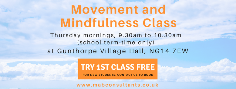 movement and mindfulness class at Gunthorpe Village Hall