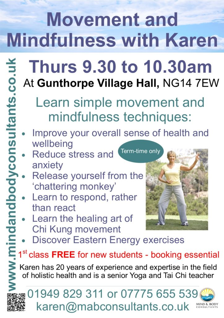 Movement and Mindfulness class in Gunthorpe