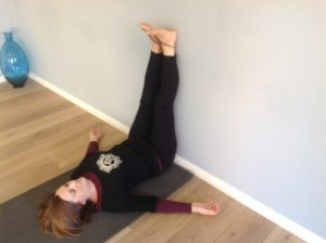 yoga legs up wall MAB Consultants