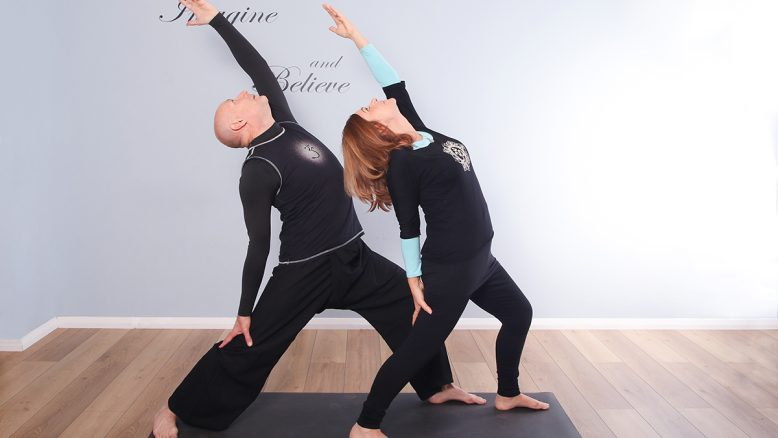Karen and Kev yoga