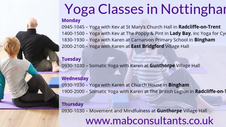 Yoga Class Timetable 2019